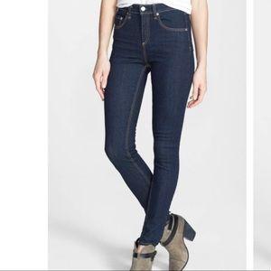 Rag & Bone High Rise Skinny Jean Heritage Wash